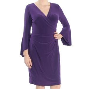 Lauren Ralph Lauren 12 Faux Wrap Dress Purple